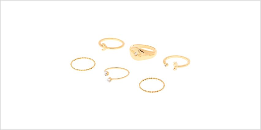 Go to Product: Gold Celestial Rings - 6 Pack from Claires