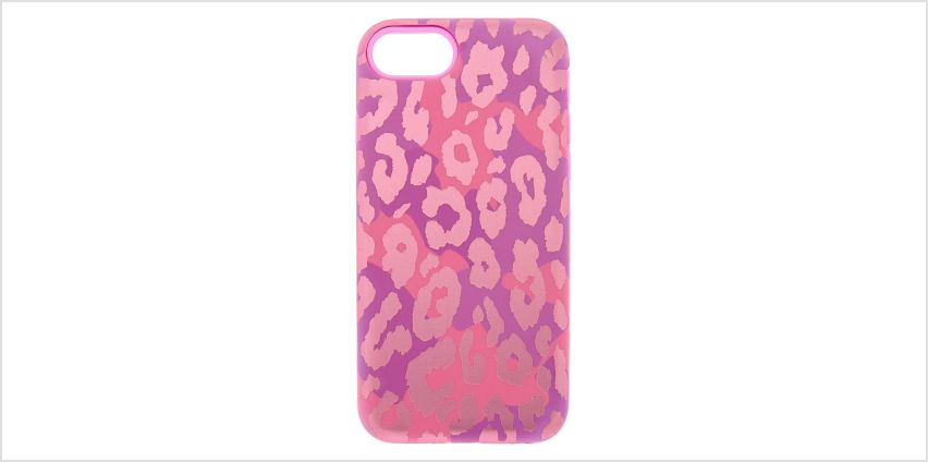 Go to Product: Pink Leopard Print Protective Phone Case - Fits iPhone 6/7/8 from Claires