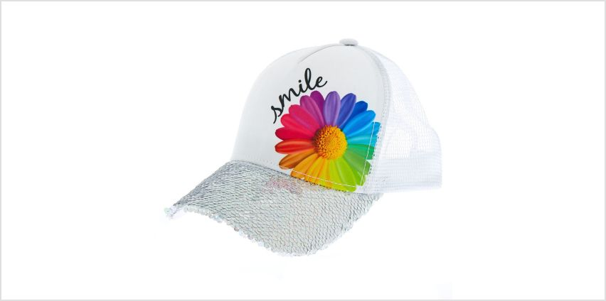 Go to Product: Daisy Smile Baseball Cap - White from Claires