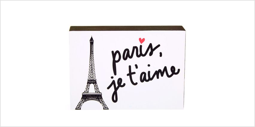 Go to Product: Paris, Je'Taime Word Block - White from Claires
