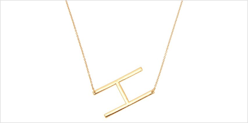 Go to Product: Oversized Initial Pendant Necklace - H from Claires