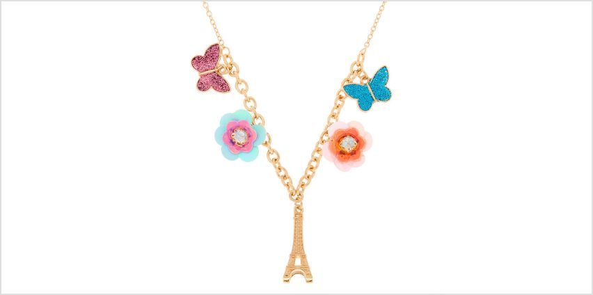 Go to Product: Gold Sequin Flower Paris Statement Necklace from Claires