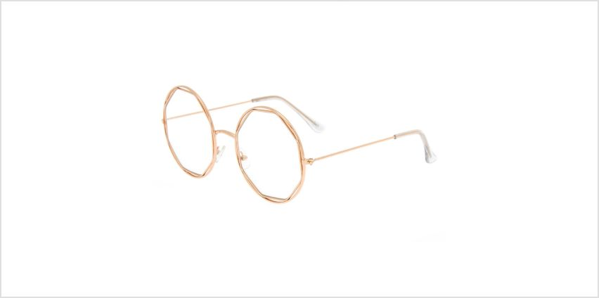 Go to Product: Rose Gold Hexagon Clear Lens Frames from Claires