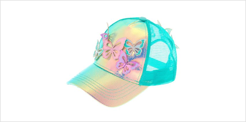 Go to Product: Holographic Butterfly Baseball Cap - Mint from Claires