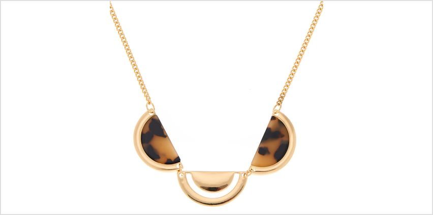 Go to Product: Gold Resin Tortoiseshell Half Moon Statement Necklace from Claires