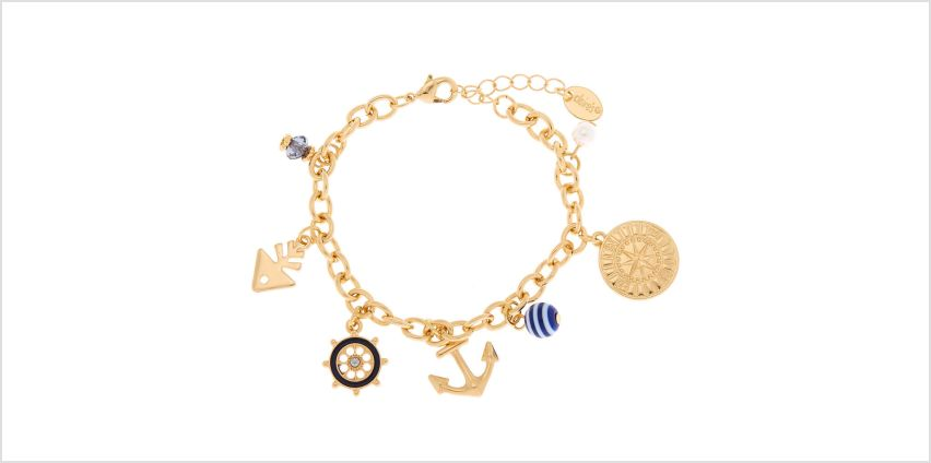 Go to Product: Gold Nautical Charm Bracelet from Claires