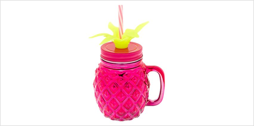 Go to Product: Pineapple Mason Jar Cup - Pink from Claires
