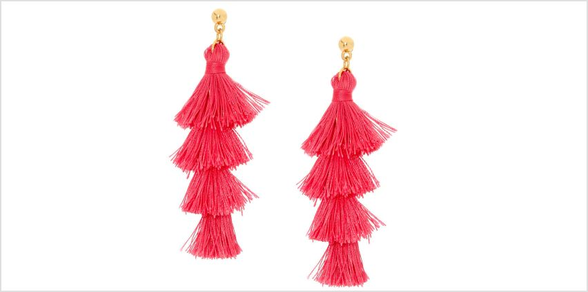 Go to Product: Pink Tiered Tassel Drop Earrings from Claires