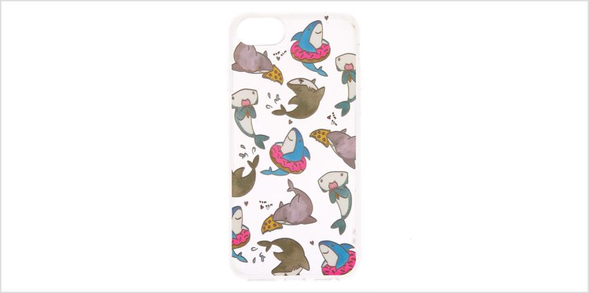 Go to Product: Hungry Sharks Clear Phone Case - Fits iPhone 6/7/8 from Claires