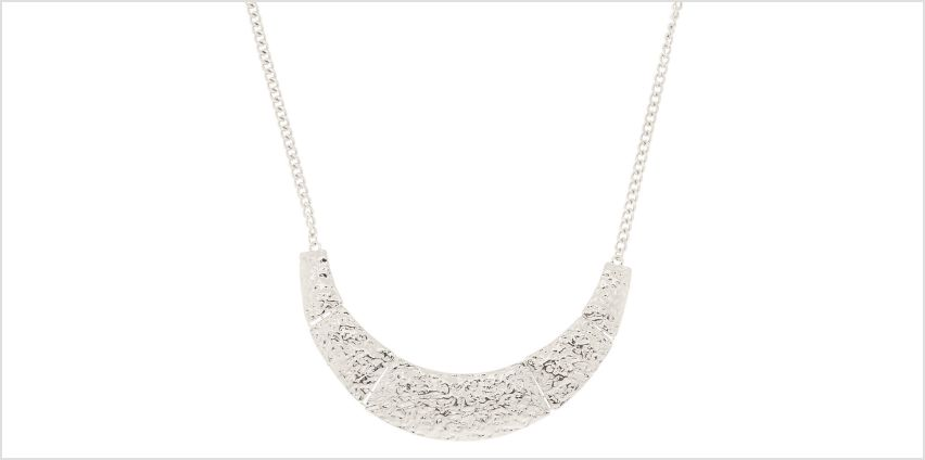 Go to Product: Silver Geometric Statement Necklace from Claires