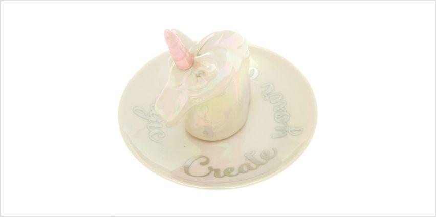 Go to Product: Ceramic Unicorn Jewellery Holder Tray - White from Claires