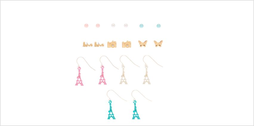 Go to Product: Paris Romance Mixed Earrings - 9 Pack from Claires