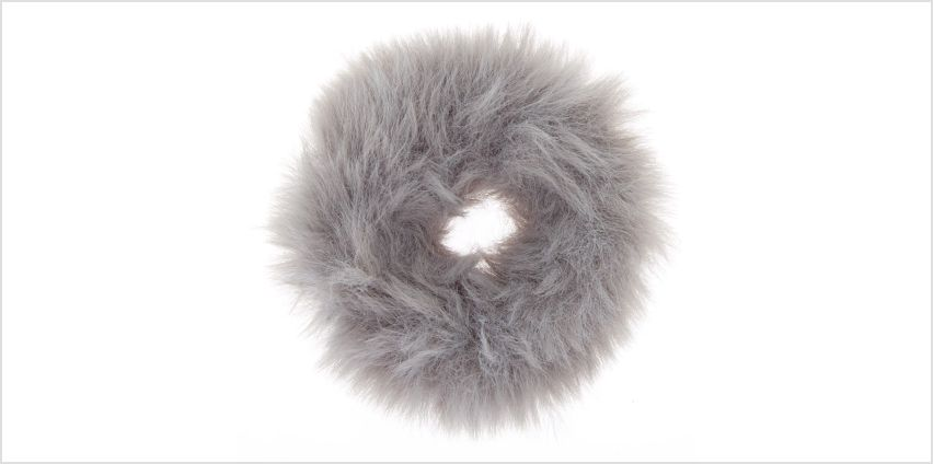 Go to Product: Faux Fur Hair Scrunchie - Grey from Claires