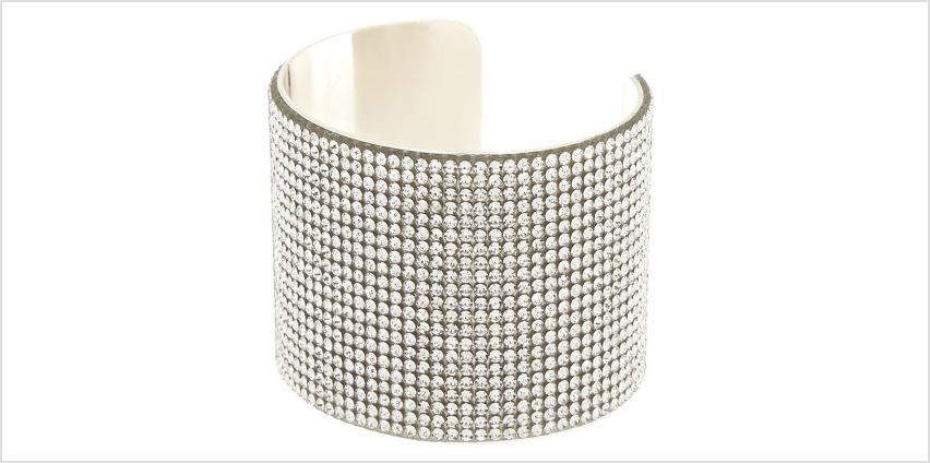 Go to Product: Silver Rhinestone Wide Cuff Bracelet from Claires