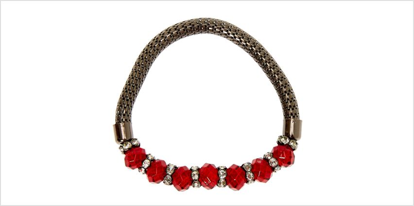 Go to Product: Hematite Bead Stretch Bracelet - Red from Claires
