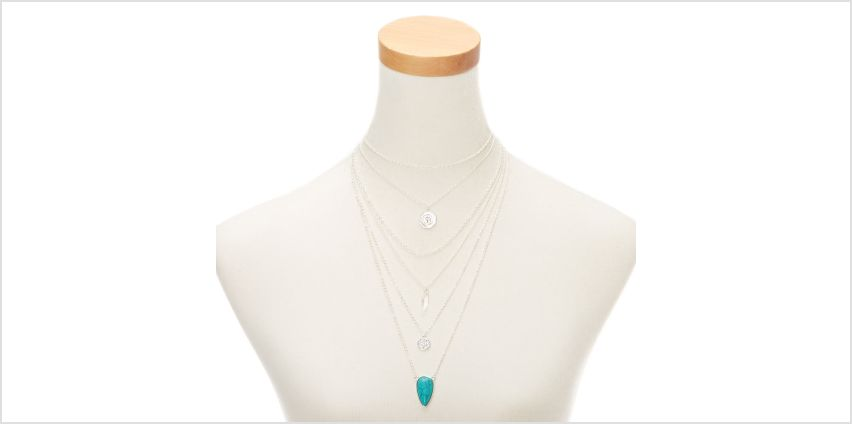 Go to Product: Silver Stone Boho Coin Multi Strand Choker Necklace - Turquoise from Claires