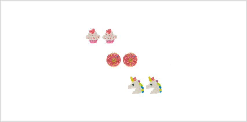 Go to Product: Glitter Unicorn & Treat Stud Earrings from Claires