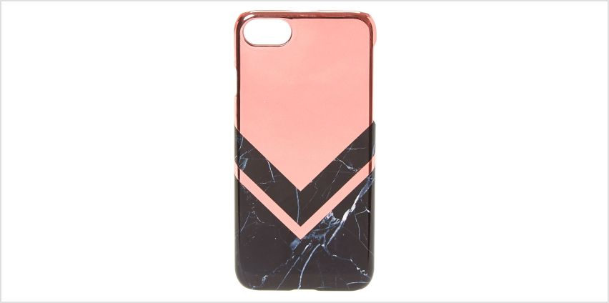 Go to Product: Rose Gold & Marble Print Phone Case - Fits iPhone 6/7/8 from Claires