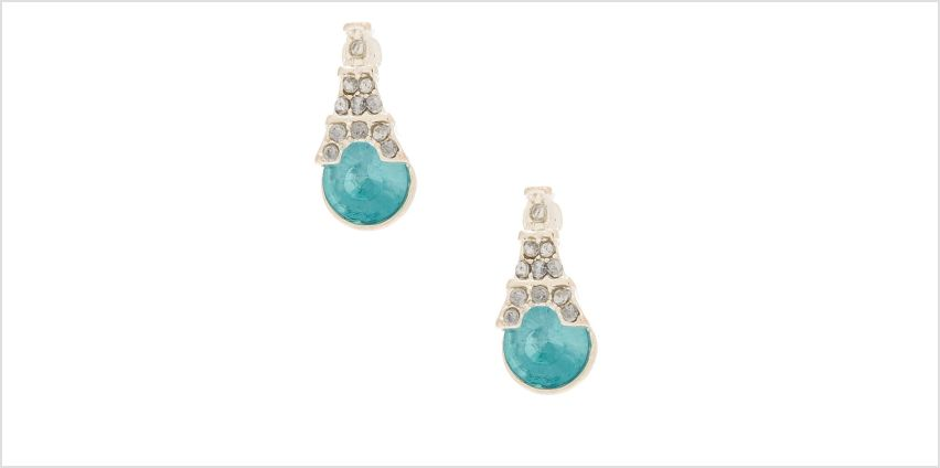 Go to Product: Silver Eiffel Tower Stone Stud Earrings - Blue from Claires