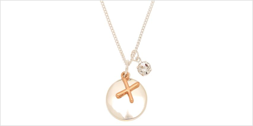 Go to Product: Mixed Metal Initial Charm Pendant Necklace - X from Claires