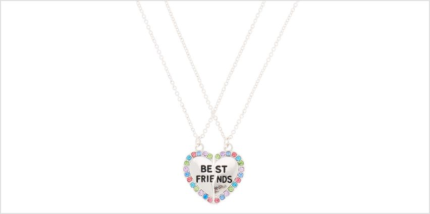 Go to Product: Best Friends Rainbow Heart Pendant Necklaces - 2 Pack from Claires