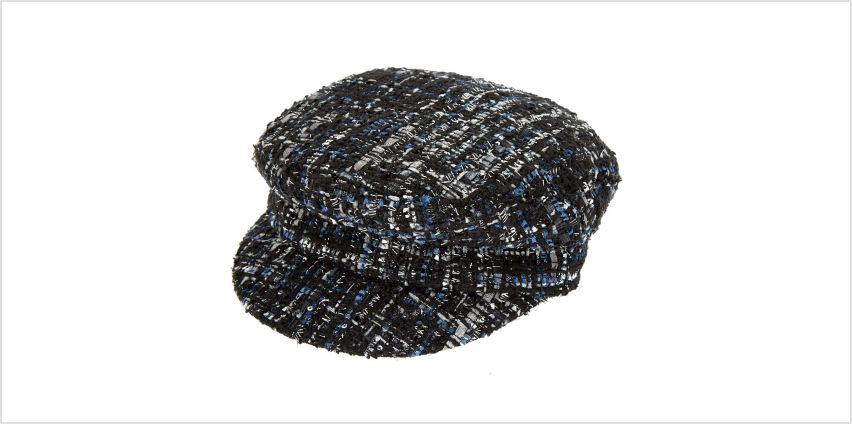 Tweed Captain Hat - Black from Claires
