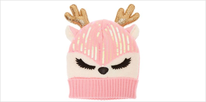 Go to Product: Ginger the Deer Sequin Beanie - Pink from Claires