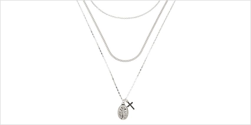 Go to Product: Silver Rosary Multi Strand Necklace from Claires
