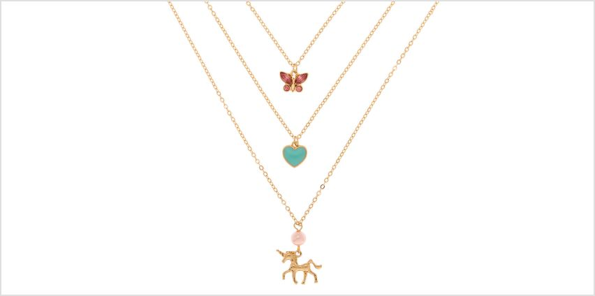Go to Product: Gold Spring Unicorn Multi Strand Necklace from Claires