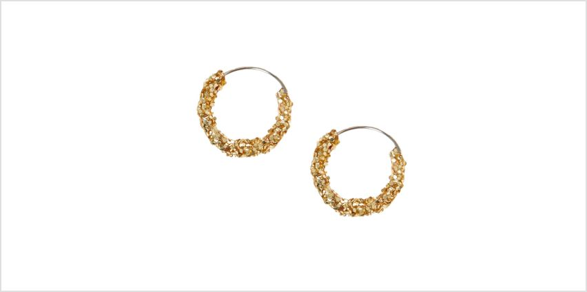 Go to Product: Gold 10MM Glitter Hoop Earrings from Claires
