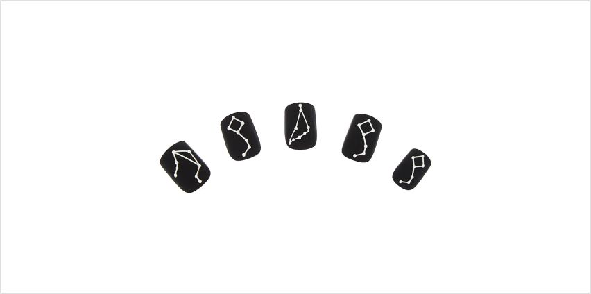 Go to Product: Matte Constellation Faux Nail Set - Black, 24 Pack from Claires