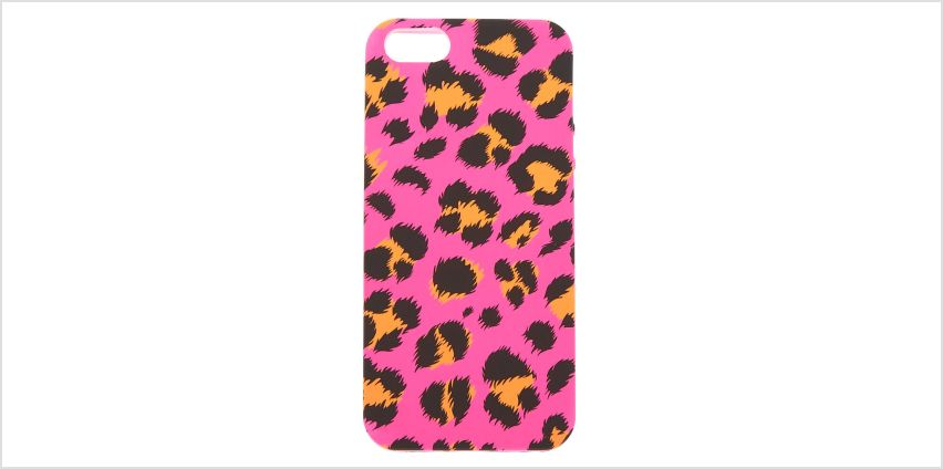 Go to Product: Neon Pink Leopard Print Phone Case - Fits iPhone 5/5S/SE from Claires