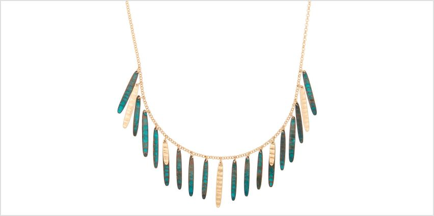Go to Product: Gold Patina Stick Statement Necklace from Claires