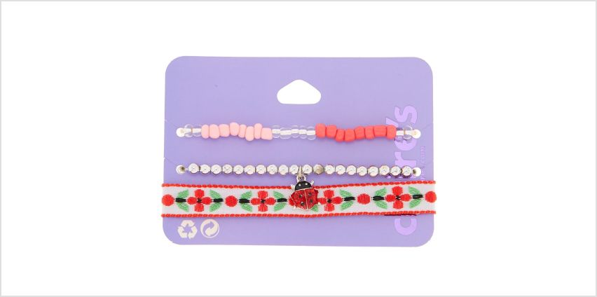 Go to Product: Spring Ladybug Bracelets - Red, 3 Pack from Claires