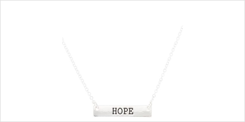 Go to Product: Silver Hope Bar Pendant Necklace from Claires