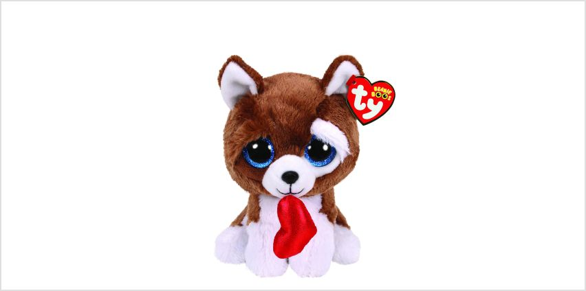 Go to Product: Ty Beanie Boo Small Smooches the Dog Soft Toy from Claires