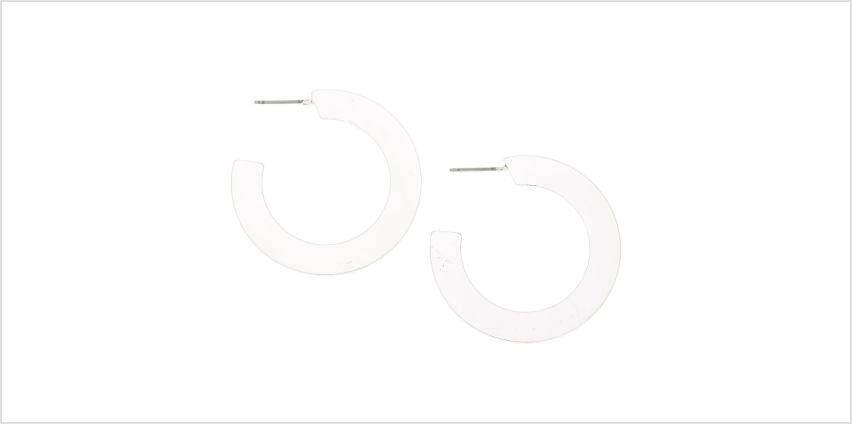 Go to Product: Silver 35MM Flat Matte Hoop Earrings from Claires