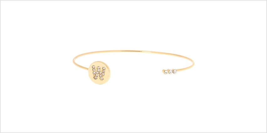 Go to Product: Gold Initial Cuff Bracelet - W from Claires