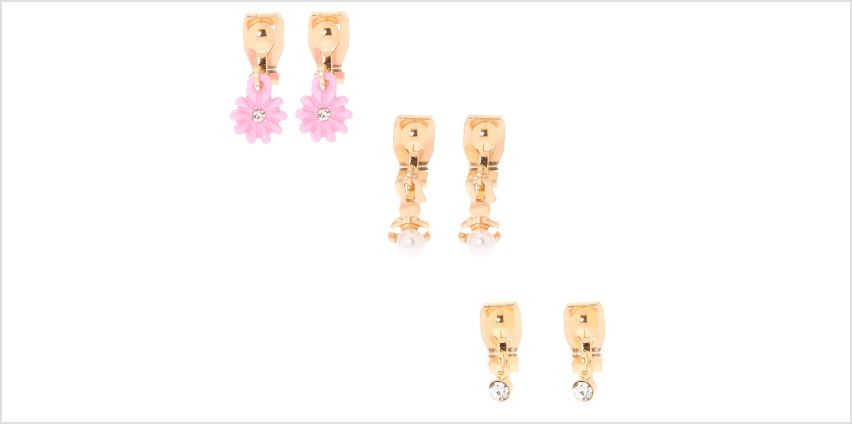 Go to Product: Gold Bunny Hop Clip On Earrings - 3 Pack from Claires