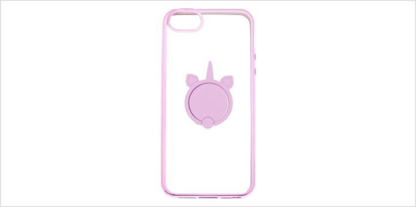 Go to Product: Lilac Unicorn Ring Holder Phone Case - Fits iPhone 5/5S/5SE from Claires