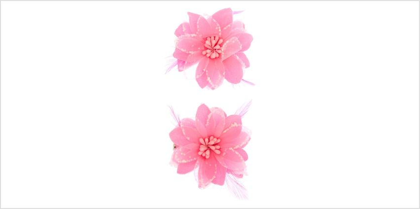 Go to Product: Sequin Lily Flower Hair Clips - Neon Pink, 2 Pack from Claires