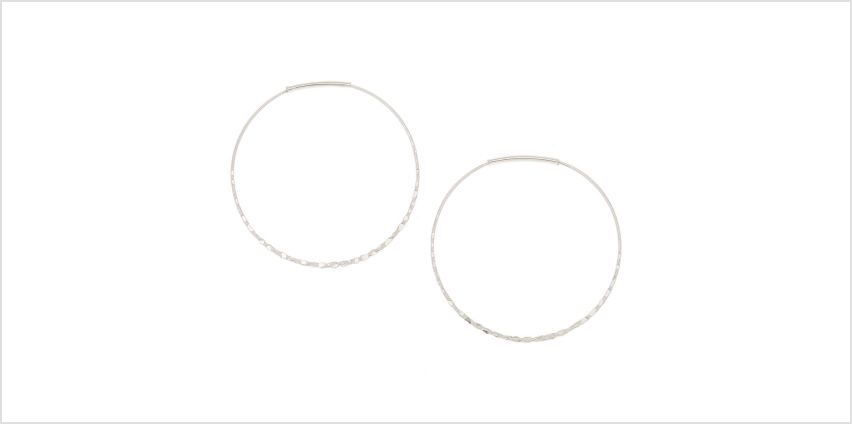 Go to Product: Silver 40MM Hammered Circle Hoop Earrings from Claires