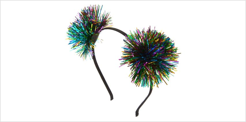 Go to Product: Rainbow Tinsel New Years Eve Headband from Claires