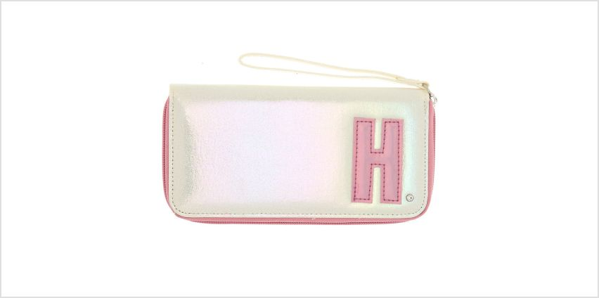 Go to Product: Pearlescent Initial Wristlet - H from Claires