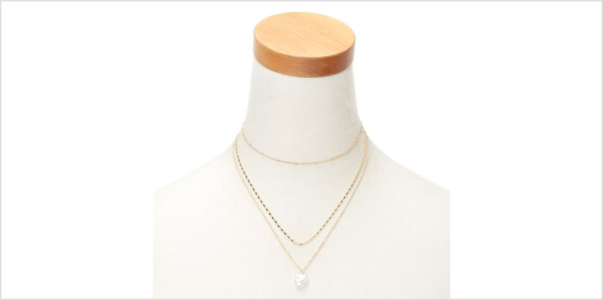 Go to Product: Gold Flat Pearl Multi Strand Necklace from Claires