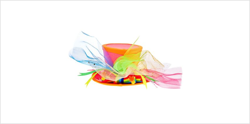 Go to Product: Neon Hat Hair Fascinator - Pink from Claires
