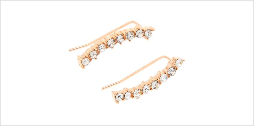 Go to Product: Rose Gold Embellished Curved Ear Crawler Earrings from Claires