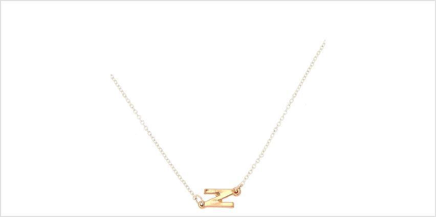 Go to Product: Mixed Metal Sideways Initial Pendant Necklace - N from Claires