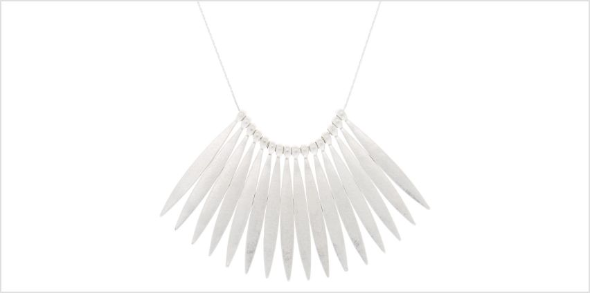 Go to Product: Silver Nail Stick Statement Necklace from Claires