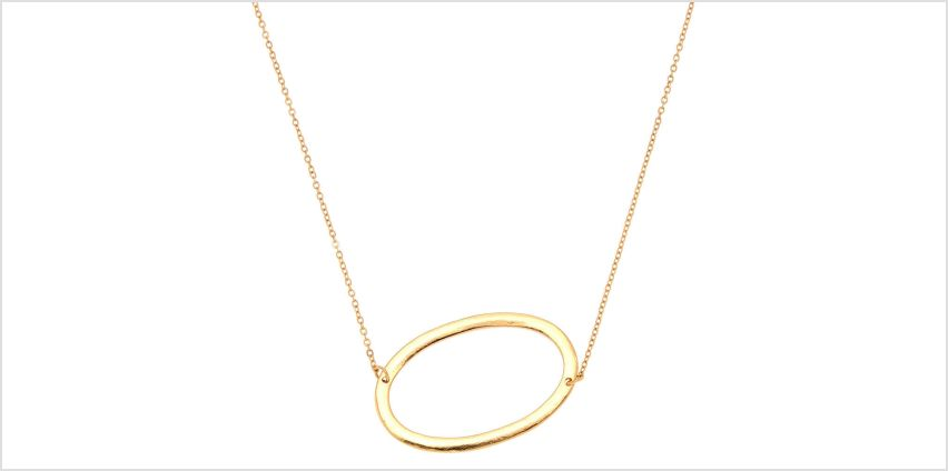 Go to Product: Oversized Initial Pendant Necklace - O from Claires